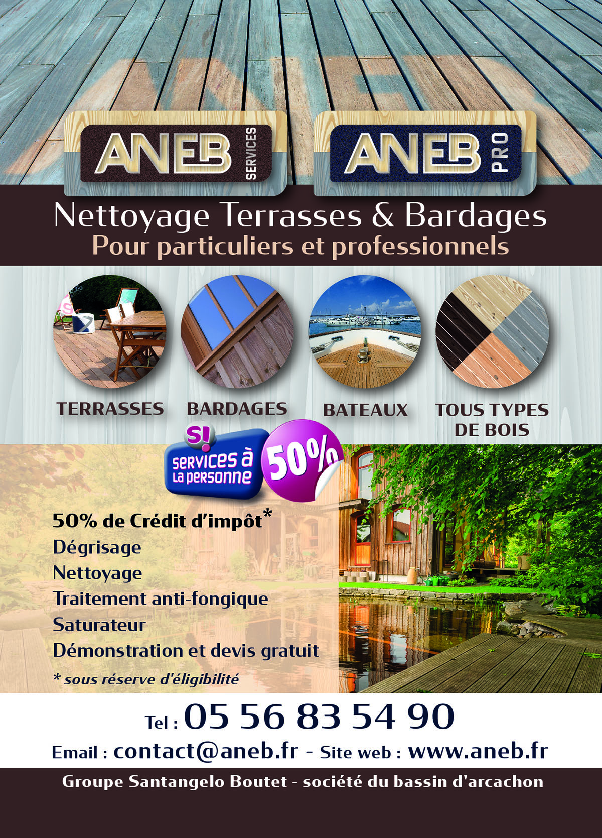 ANEB - Nettoyage Terrasses et Bardages