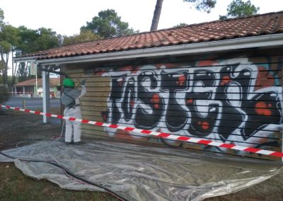 Entreprise traitement tags graffitis